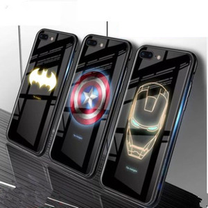 Iphone11 Light Мобильный телефон Shell Apple, ХГ / xsmax Luminous Закаленное стекло крышка Shell Чехол для телефона Защитная крышка