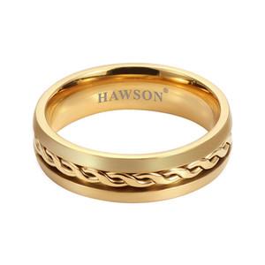 HAWSON Trendy color oro cravatta Anello Per Gli Uomini Cravatta