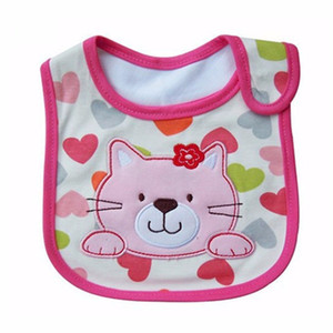 Baby Bibs Cute Cartoon Pattern Toddler Baby Waterproof Saliva Towel Cotton Fit 0-3 Years Old Infant Burp Cloths Feeding