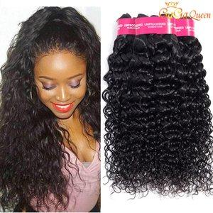 Необработанные перуанский Virgin Hair Связки предложения волна воды человеческих волос 100% перуанский волна воды волос Пучки Бесплатная доставка