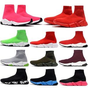 Novas triplos velocidade vermelho instrutor Shoes grafittis pretos brancos azul oreo podar sapatilhas ocasionais volts Brown Black homens rosa mulheres estilista sapatos