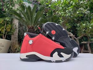 Version finale 14 OG haut Gym Rouge Hommes Basketball Chaussures de Sport Rouge Noir Blanc Rétro 14S 487471-006 Chaussures de sport Athletic basketballshoes avec la boîte