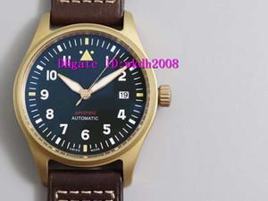 MKS Pilot Spitfire IW326802 Luxury Watch Swiss 9015 Automatic Mechanical 28800 vph 316L Bronze Sport Watch Sapphire Crystal Super Luminous