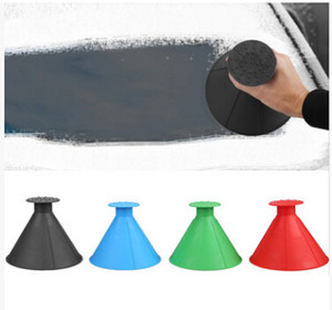 Windshield Cone Shape Ice Scraper Snow Scrapers Creative Magic Window Deicing Tool Funnel Snow Cleaning Brushes