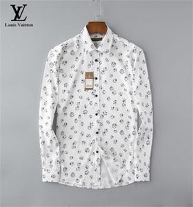 NIGRITY 20 Весны Мужской мода Классической Комфортная Повседневная длинный рукав рубашка Бизнес Man Формальная рубашка плюс размер S-размер M-3XL19
