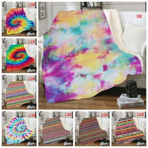 150 * 130 centímetros Sherpa Blanket Impresso Kid Girassol Floral Striled Leopard 3D Inverno Plush Xaile Couch Sofa Jogue velo envoltório 16 Styles BC BH2906