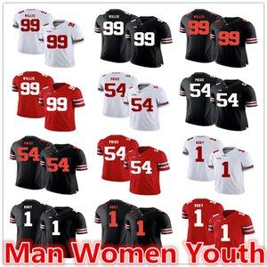 настроить NCAA штат Огайо Buckeyes футбольные майки Арчи Гриффин 45 Билли Прайс 54 Билл Уиллис 99 Джерси любое имя номер S-5XL