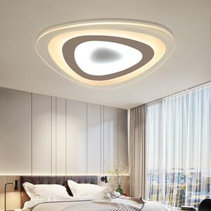 التصميم الحديث سوداء سقف أبيض ضوء البيت الذكي الشاشة قاد جودة عالية مصباح السقف الحديثة لغرفة نوم