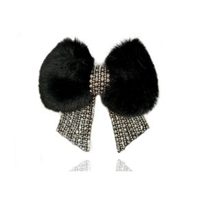 NEW rhinestones bowties fur shoes flower charm Applique Patch shoes decoration ornaments accessories bags clothing hat Clog Charm