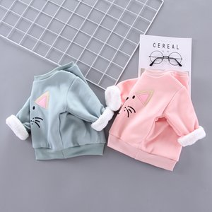 Baby Girls Warm Hoodies Clothes Boys Winter Pullovers Sweatershirt 2019 New Kids Thick Casual Cartoon Tops 1 2 3 4Years