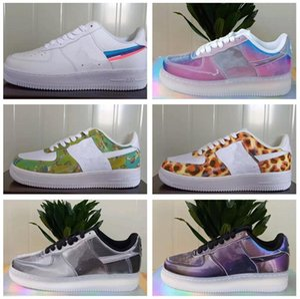 Новый дизайн Forces Мужчины с низким Скейтборд обувь Дешевые Один Унисекс 1 Knit Euro Air High Женщины Все Белый Черный Красный кроссовки