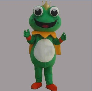 2018 factory sale new Super Hot Frog Prince Mascot Costume Fancy Dress EPE