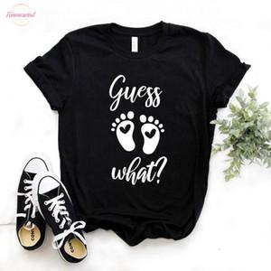 Indovinate un po 'il piede stampano collo delle donne V Tshirt in cotone a vita bassa divertente maglietta regalo Lady Yong ragazza Top Tee 6 colori di goccia