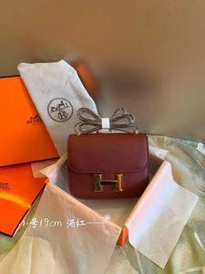 Tabby Kelly New Constance Kelly Tragbarer Bacchus Schultertasche Klassischer Luxus Designer Retro populäre Frauen Rotwein Größe: 19 cm