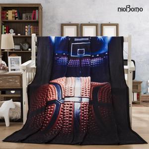 niobomo New 2020 Fashion plaid couvertures couvre-lit pour une couverture de haute qualité lit 3D 100% polyester Cour de basket-ball bagout