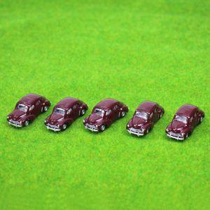 5PCS Modell Classic Cars 1: 100 TT HO Maßstab für Gebäude-Bahnzug Scenery NEU C10012 Eisenbahn Modellierung