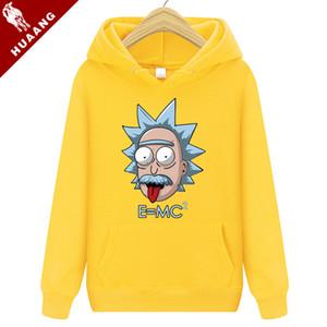 Severler Marka Kapüşonlu Streetwear Hip Hop Mens Hoodies Ve Tişörtü Hoody Rick Morty Hoodies Kazak Hoody Çiftler Giyim 0043