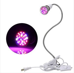 28W LED Grow Light with Clip Flexible Lamp Head Clip LED Plant Growth Light for Indoor or Desktop Plants Two-pin Plug