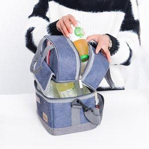 Kalın Thermo çanta Bolsa termica loncheras para mujer İzoleli Cooler Bento Bez termo soğutucu kullanan ısı Araba tutar