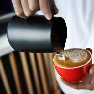 Küche Edelstahl-Cup Aufschäumen von Milch Krug Espresso-Kaffee-Pitcher Barista Craft Kaffee Latte Milchschäumer Krug Pitcher