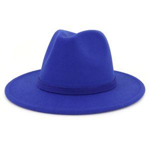 Mode-Woollen Hat Lady Hat Tide Femme Jazz Cap Panama large Brim formel Chapeau Trilby Chapeaux pour dames Robe Fascinator