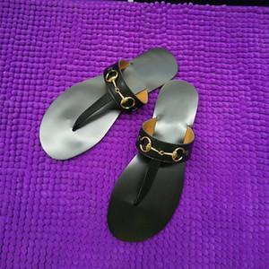(с коробкой) кожаные стринги сандалии женщины роскошные тапочки Desinger модные тонкие черные шлепанцы брендовая обувь черный белый коричневый красный бежевый серебристый