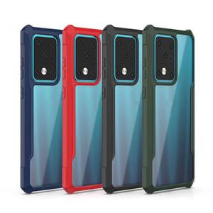 Funda híbrida robusta transparente PC TPU Funda a prueba de golpes Slim Tough agarre para Samsung S20 Ultra S10 Plus Note10 PRO A10 20 30 50