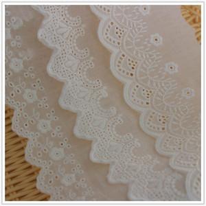 Новые 6 стилей Лоскутное белый хлопчатобумажной ткани кружевной отделкой Garment швейной фурнитуры отделочные материалы DIY ремесла LB036