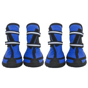 4Pcs  Lot Dog Shoes Outdoor Dog Shoes For Sports Mountain Wearable For Pets shoes Anti-slip Waterproof Reflective