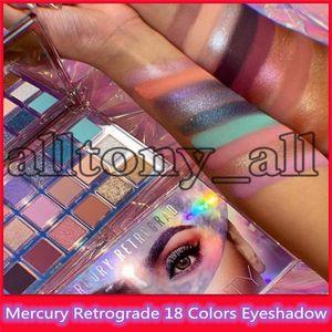 Neue Heiße Neueste Schönheit Mercury Retrograde 18 Farben Lidschatten Shimmer Bling Bling Lidschatten Matte Lidschatten mit hoher Qualität auf Lager