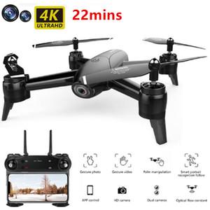 RC Drone WiFi Quadcopter 4K камера Оптический поток 1080P HD Dual Camera Aerial Видео Видео Дистанционное управление Вертопами Самолеты Детские игрушки
