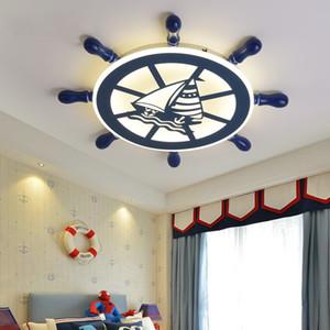 Cartoon Rudder plafond Lumière pour enfants bébé Enfants Chambre Chambre Ceiling Light enfant Chambre Lampe LED plafond lumière garçons Chambre