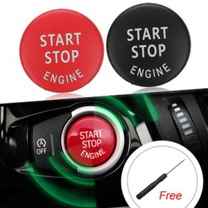 자동차 엔진 START 버튼 커버 STOP은 BMW X1 X5 X6 E71 Z4 E89 3 5 시리즈 E90 E91 E60 E87에 대한 보조 키 장식 스위치 교체