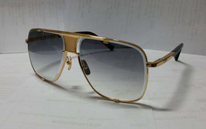 Hombres piloto Square Gafas de sol Negro Oro Gris Gris Lente degradado 2087 Glases Vintage Gafas de sol Gafas Gafas Gafas Nuevo con caja