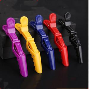 Las abrazaderas de la peluquería Salon clip de la garra de plástico cocodrilo pasador de la sección de retención del pelo clips Grip Accesorios para herramientas