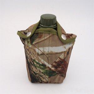 1L camuflaje militar Hervidor Senderismo Plaza cantina plástico durable portátil Roca Escalada Deportes simples y fuertes de sellado del agua de botella 11jqD1