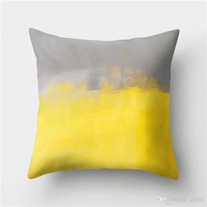 Abacaxi Fronha Capa de Almofada Do Sofá Amarelo Peach Skin Velvet Almofadas Conjuntos Desejo Amor Boa Manhã Ensolarado Vendas Quentes 6mdC1