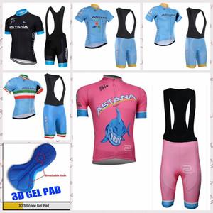 şort önlük ASTANA Takımı 2020 Yaz Erkek Nefes Rahat Bisiklet Kısa Kollu forması MTB Hızlı Kuru gömlek modelleri S62644 setleri