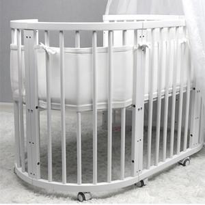 2pcs Newborn Toddler Baby Bedding Crib Breathable Mesh Adjustable Security Fencing Children Guardrail 320+150cm
