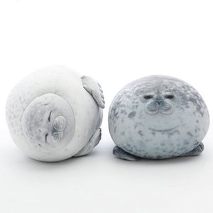 Plush Fat Seals Stuffed Toys Cute Cartoon Sea Animal Soft Big Hugging Pillow Baby Sleeping Pillow Cute Throw Pillow Gift For Kid