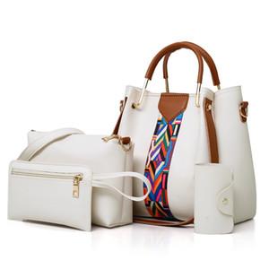 Women's bag 2020 new printed child and mother fashion ladies shoulder messenger bag 4 sets Composite Bag 15