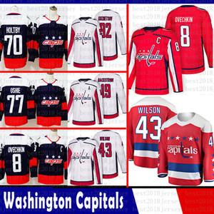 hommes Washington Capitals 8 Alex Ovechkin Hockey Jersey 92 Kuznets 43 Tom Wilson 77 TJ Oshie 70 Braden Holtby 19 Nicklas Backstrom Jersey 2018