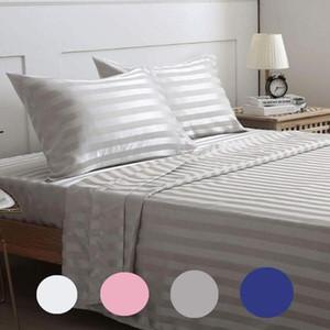 çarşaf grubu saten ipek elastik Gömme Sac yatak seti yaprak Koruyucu elastik bant düz levha yatak örtüdeki mattress