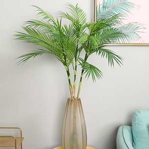 Palm Tree Artificial Leaves Branches Vivid Wild Faux Foliage Fake Plant for Home Wedding Living Room DIY Decoration Jungle Party