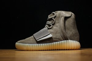 Newest Kanye West 750 Boost Brown Gum Glow In The Dark Basketball Shoes Sneakers Men&Women Sports Boots Size 36-46 With Original Box