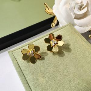 Diamant-Bolzen-Ohrring-Frauen Frivole 14k Gold-Ohrring Frankreich Blumen-Frauen-Hochzeitsfest-Fine Jewelry