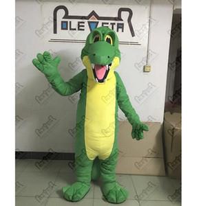 зеленый динозавр костюмы талисмана обычай дракона крокодила аллигатора ходьбе актер Полярная звезда MASCOT COSTUME