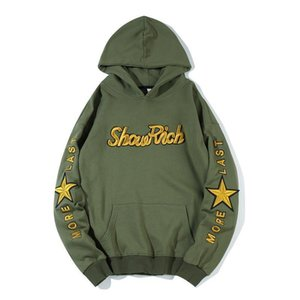 Off Hot Sale New Arrival Full None Cotton Casual Hooded Hip Hop Hoodies Men 2019 Cap Coat Letter Printing Leisure Loose Guard H04R