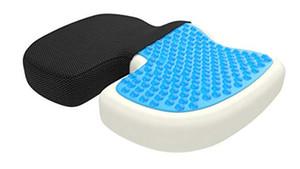 Gel Verbessertes orthopädisches Sitzkissen Rutschfestes orthopädisches Gel Memory Foam-Steißbein-Kissen für Steißbeinschmerzen Bürostuhl Auto-Sitzkissen