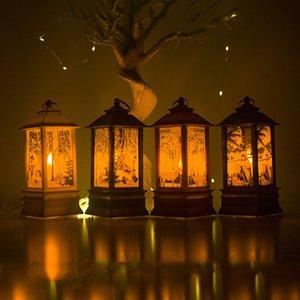 Decorazioni di BMBY-Natale per la decorazione della casa della lampada della lanterna LED Candle Light Tea Candele di Santa cervi del pupazzo di neve nuovo anno Ornament